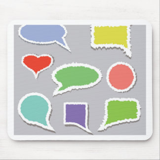 66Speech Bubbles_rasterized Mouse Pad