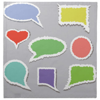 66Speech Bubbles_rasterized Napkin