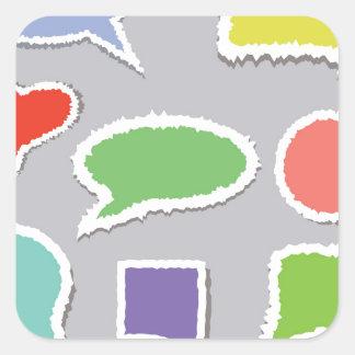 66Speech Bubbles_rasterized Square Sticker