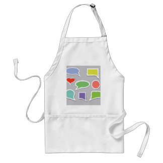 66Speech Bubbles_rasterized Standard Apron