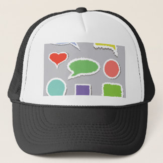 66Speech Bubbles_rasterized Trucker Hat
