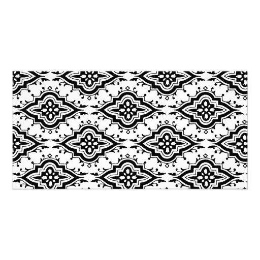 6700_ornamental ORNAMENTAL BLACK WHITE DECORATIVE Photo Card Template
