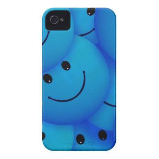 67198 smiles smiley face cartoon smile team blue iPhone4 case