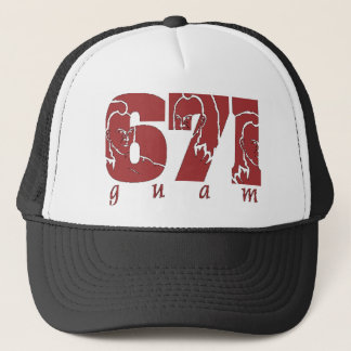 671 AREA CODE TRUCKER HAT