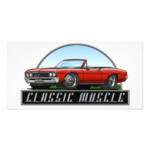 67 Chevelle Convertible Photo Card Template