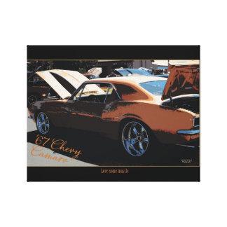67' Chevy Camaro Canvas Print