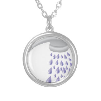 67Shower_rasterized Silver Plated Necklace