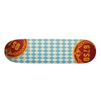 67SOSK8 ARGYLE SKYBLUE*TEAL CUSTOM SKATE BOARD