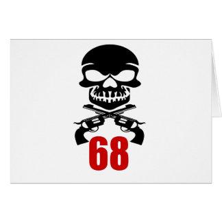 68 Birthday Designs Card