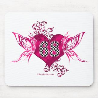 68 racing numbers butterflies mousepad