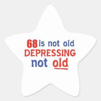68 year birthday designs stickers