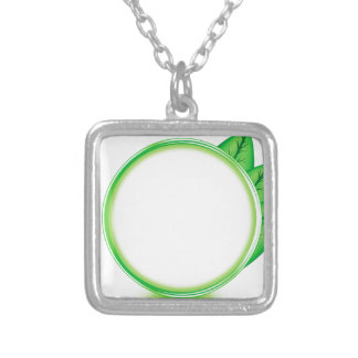 68Green Logo_rasterized Silver Plated Necklace