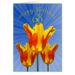 68th Birthday card, tulips full of sunshine Greeting Card