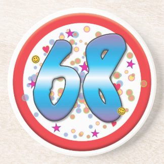 68th Birthday Coasters