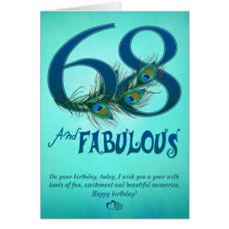 68th Birthday template Cards