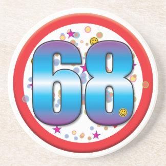 68th Birthday v2 Beverage Coaster