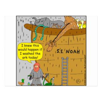 692 Noah washs ark cartoon Postcard