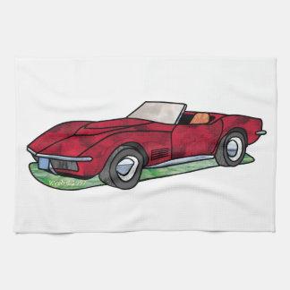 69 Corvette Sting Ray Roadster Hand Towel
