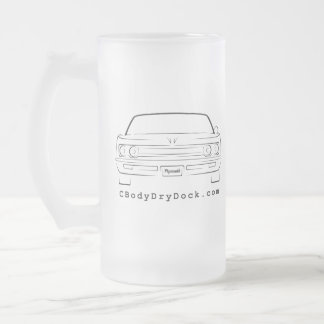 69 Fury Frosted Glass Beer Mug