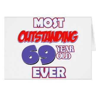 69 YEAR OLD BIRTHDAY DESIGNS CARD