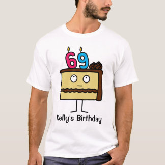 69th Birthday Cake with Candles T-Shirt