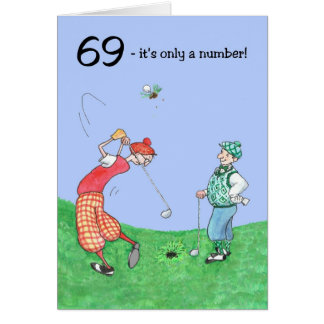 69th Birthday Card for a Golfer