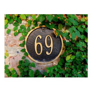 69th Birthday Postcard