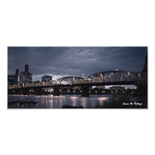 6.17 x 13.97 Hawthorne Bridge Portland, Oregon Art Photo