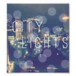 "6.39"" x 7.12"" Edit Print: City Lights Photo Art"