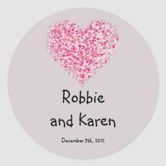 "6 - 3"" Favor Stickers Pink Floral Petals Flower Ro"