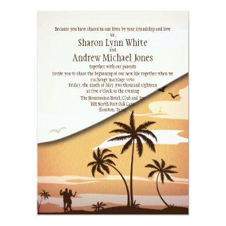 """6.5 x 8.75"""" Hawaiian Beach  Palm Tree  Invitation"""