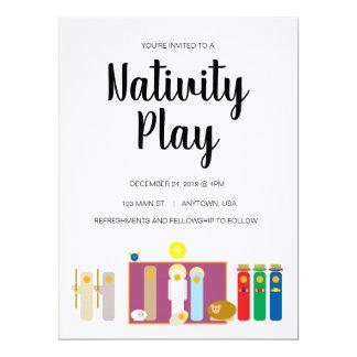 "6.5 x 8.75"" Minimalist Nativity Play Invitation"