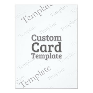 """6.5 x 8.75"""" Recycled White Invitation Template"""