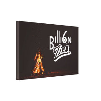 6 billion lies | Nothing But Thieves | Typographic Canvas Print