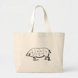 6 Degrees of  Bacon Jumbo Tote Bag