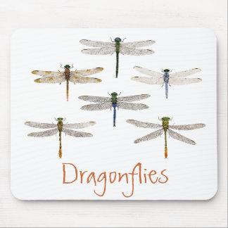 6 Dragonflies Mousepad