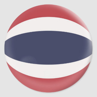 6 large stickers Thailand flag