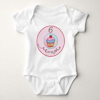 6 Months Cupcake Milestone Baby Bodysuit