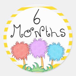 6 Months Inspired Milestone Classic Round Sticker