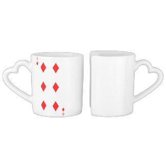 6 of Diamonds Coffee Mug Set