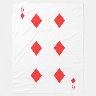 6 of Diamonds Fleece Blanket