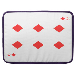 6 of Diamonds Sleeve For MacBook Pro