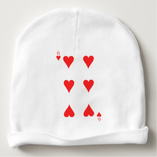 6 of Hearts Baby Beanie