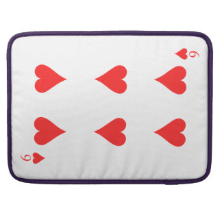 6 of Hearts Sleeves For MacBook Pro