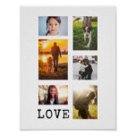 6 Photo Frame Collage Poster
