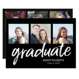 6 Photo Trendy Graduation Announcement