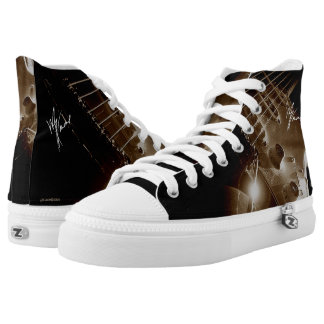 6 String Lover on High Top Printed Shoes