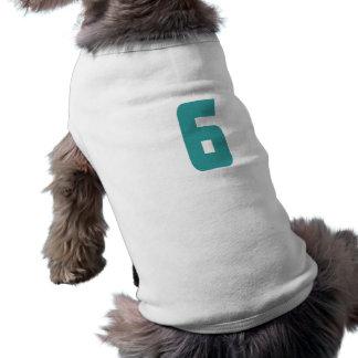 #6 Teal Bold Pet Tshirt