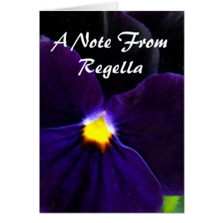 6 Velvety Purple Blue Pansy Greeting Card