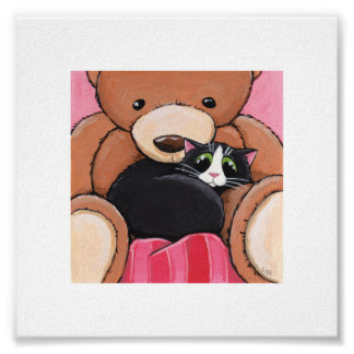"6"" x 6"" Whimsical Cat Art 